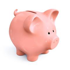 Piggy bank - front left view