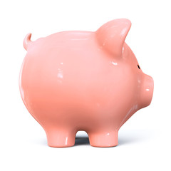 Piggy bank - side view