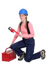 Female plumber