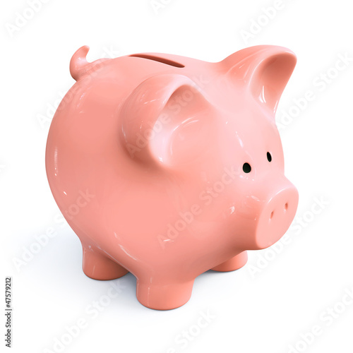 Piggy bank - front left view