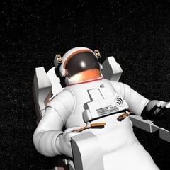 Astronaut in space - 3D render
