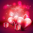 Valentine's Day pink background