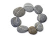 grey striped stones-round frame