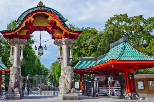 Leinwanddruck Bild berlin zoo entrance gate germany