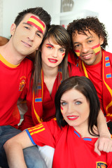 Group of Spanish football supporters