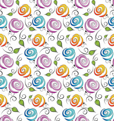 Seamless flower background for wrapper