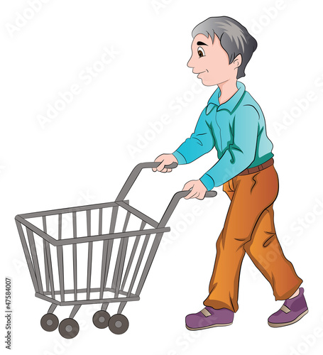 Male Shopper, illustration