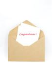 Congratulation note