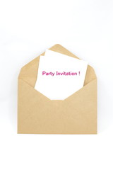 Party invitation note