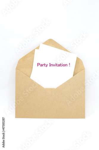 Party invitation note