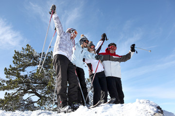 Group in ski holidays