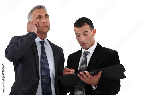 Shocked businesspartners