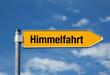 Pfeil mit blauem Himmel HIMMELFAHRT