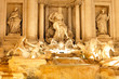 Fountain di Trevi .Night scene. Rome