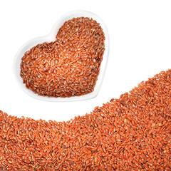 Flax seeds (Linum usitatissimum). Omega 3 source.
