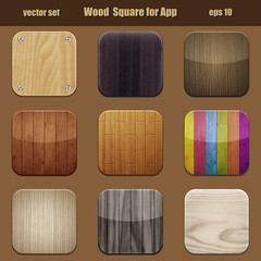 wood square for app