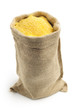 canvas bag with cornmeal