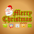 vector illustration of Merry Christmas with funny Character