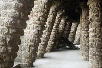Park Güell internal gallery. Barcelona