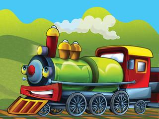 The cartoon locomotive