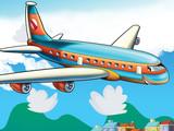 Cartoon passenger aircraft