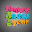 vector illustration of colorful paper cut Happy New Year