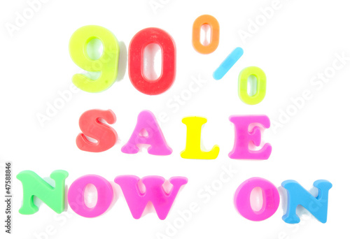 90% sale now on written in fridge magnets