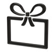 Black gift icon isolated on white background