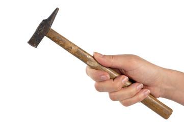Mano con martello