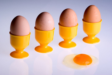 Four eggs and an accident