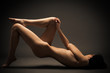 Fashion Portrait Of Naked Woman With Beautiful Slim Body