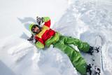 dáma snowboardista