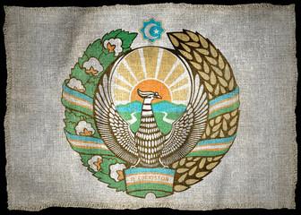 OUZBEKISTAN ARMS NATIONAL FLAG