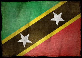 SAINT KITTS AND NEVIS NATIONAL FLAG