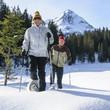 Schneeschuhtour in verschneiter Landschaft
