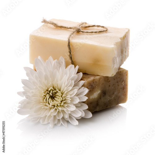 Soap with flower