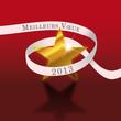 Voeux 2013 - étoile et ruban