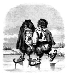 Owls Skaters - Hiboux Patineurs (Fantasy-Humour)