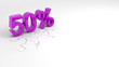 Single subtitles percent, banner animation of color discount.