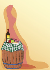 wine barrel - poster