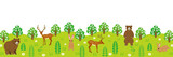 Cute animals in the Forest-Panorama-