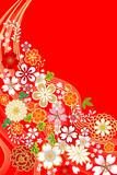 和柄/桜/花/赤 - 47594465