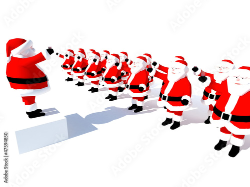 Santa Claus Best wishes- isolated abstract white background