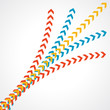 abstract color arrow background