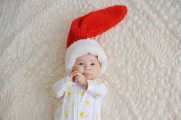 Girl in Santa Claus Cap