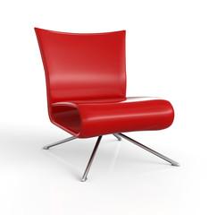 ClubStuhl Rot 3D