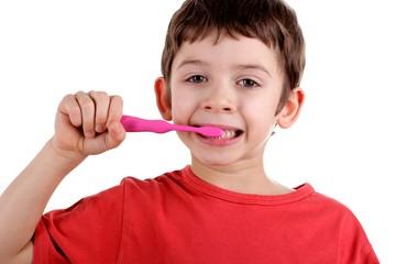 Boy cleans a teeth © Profesja Bielsko