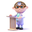 Doctor at lectern