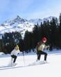 Freizeitvergnügen Schneeschuhwandern