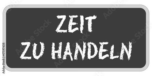 TF-Sticker eckig oc ZEIT ZU HANDELN
